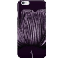 Silver & Black Tulip Flower Abstract - Deep Purple iPhone Case/Skin
