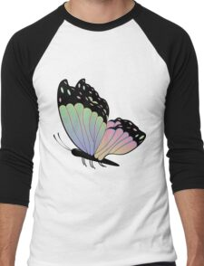 Cartoon Butterfly Men's Baseball ¾ T-Shirt