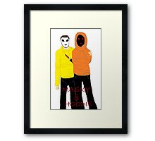 Masky & Hoodie Framed Print