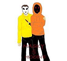 Masky & Hoodie Photographic Print