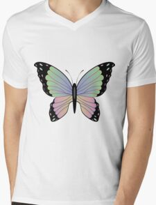 Cartoon Butterfly 2 Mens V-Neck T-Shirt