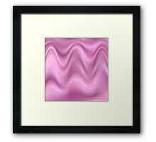 Pink wave abstract Framed Print