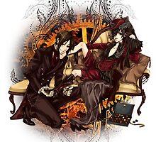 Kuroshitsuji (Black Butler) - Ciel Phantomhive & Sebastian Michaelis by IzayaUke