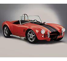 Performance sports car - Red Cobra Photographic Print