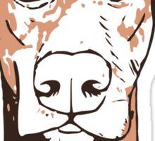 Quirky doberman Sticker
