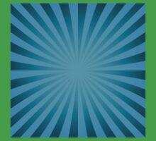Cyan rays abstract Baby Tee