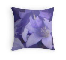 abstract of Campanula Throw Pillow