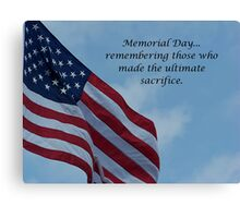 On Memorial Day Canvas Print