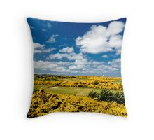 Golden Links Throw Pillow