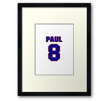 National baseball player Paul Casanova jersey 8 Framed Print