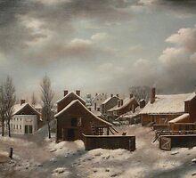 Winter Scene in Brooklyn - Francis Guy by BravuraMedia