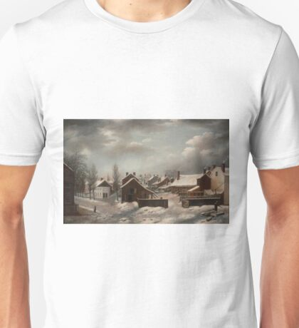 Winter Scene in Brooklyn - Francis Guy Unisex T-Shirt
