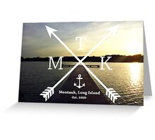 MTK with Cross Arrows  Greeting Card