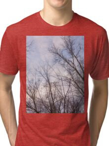 Trees in winter park 4 Tri-blend T-Shirt