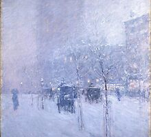 Late Afternoon New York Winter - Childe Hassam by BravuraMedia