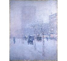 Late Afternoon New York Winter - Childe Hassam Photographic Print