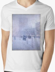 Late Afternoon New York Winter - Childe Hassam Mens V-Neck T-Shirt