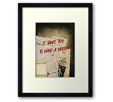 Murder Board Framed Print