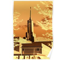 Mount Timpanogos Temple - Golden Poster