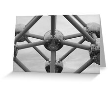 Atomium Brussels in black and white Greeting Card