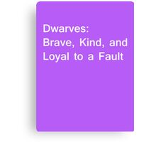 Definition of Dwarves - White Canvas Print