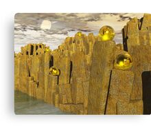 The Sacred Orb Topped Pillars of Titan Canvas Print