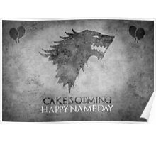 Game of Thrones Birthday: Happy Name Day, Cake is Coming Poster