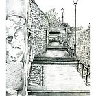 Dysart in Fife, Scotland Pencil Drawing: Architecture [Lane/Vennel/Thoroughfare] by Grant Wilson