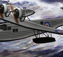 A Saro Cloud A29 of the Royal Air Force - all products except duvet Sticker