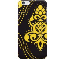 Royal Damask, Ornaments, Swirls - Purple Yellow iPhone Case/Skin