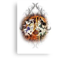 Kuroshitsuji (Black Butler) - Ciel, Sebastian, Claude and Alois [in Wonderland] Canvas Print