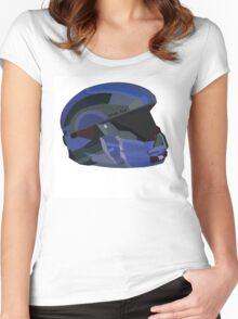 Halo 5 Recruit Helmet Women's Fitted Scoop T-Shirt