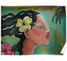 Tropical Woman Poster