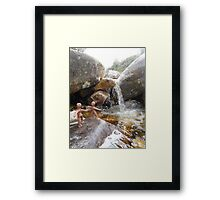 Clay People bathe above Loch Maree Framed Print
