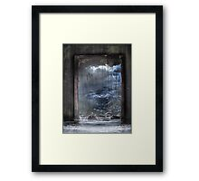 Reflection of a conscience Framed Print