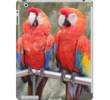 Red Macaw Parrots iPad Case/Skin