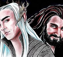 Thorin vs Thranduil by jos2507