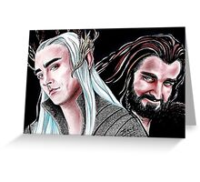 Thorin vs Thranduil Greeting Card