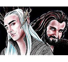 Thorin vs Thranduil Photographic Print
