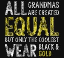 All Grandmas Wear Black And Gold T-shirt by musthavetshirts
