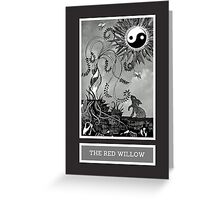 Shadow Season: THE RED WILLOW Greeting Card
