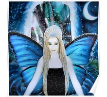 butterfly fairy at night Poster