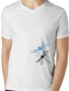 Dragonfly Mens V-Neck T-Shirt
