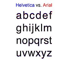 Helvetica vs. Arial Photographic Print