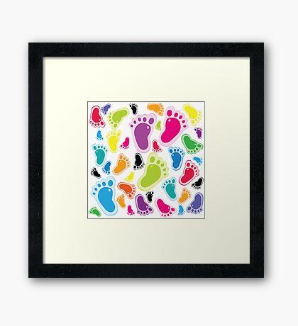 Color footprints Framed Print