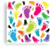 Color footprints Canvas Print