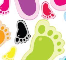 Color footprints Sticker