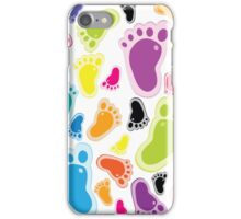 Color footprints iPhone Case/Skin