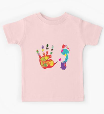 Color footprint and handprint Kids Tee