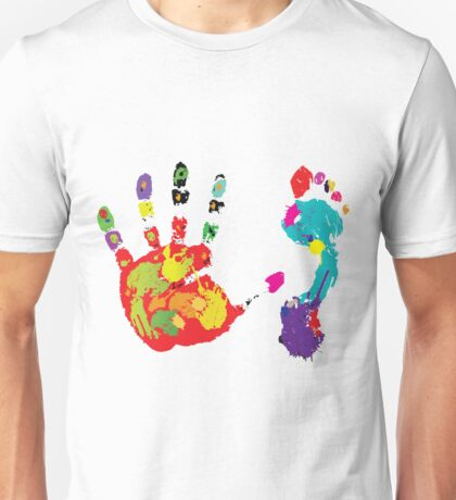 Color footprint and handprint Unisex T-Shirt